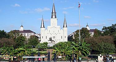 Jackson square church in New Orleans, Louisiana