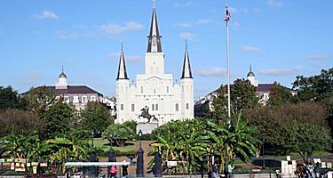 Jackson square church in New Orleans, Louisiana