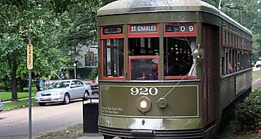 St. Charles streetcar trolley in New Orleans, Louisiana