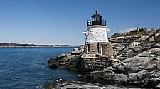 The Castle Hill Lighthouse in Rhode Island