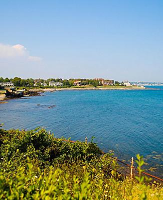 Picturesque coast at Newport, Rhode Island