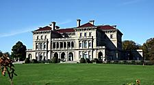 Exterior view of the Breakers Mansion in Newport, Rhode Island