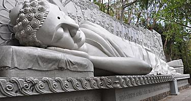 Sleeping Buddha at the Long Son Pagoda in Nha Trang, Vietnam