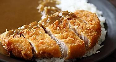 Japanese katsu curry, curry rice with pork cullet