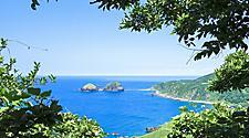 The coastline of Sado Island during Summer, in Niigata, Japan