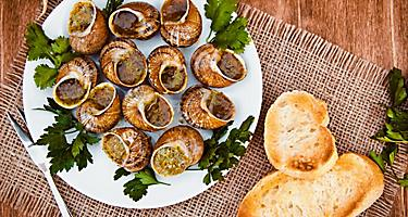 Escargots de Bourgogne, snails with herbs butter in Noumea, New Caledonia