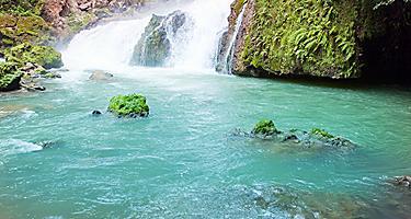Dunn's River waterfalls in Ocho Rios, Jamaica