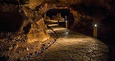 Dark Pathway of Green Grotto Cave in Jamaica