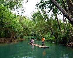 Romantic river rafting shore excursion in Ocho Rios, Jamaica
