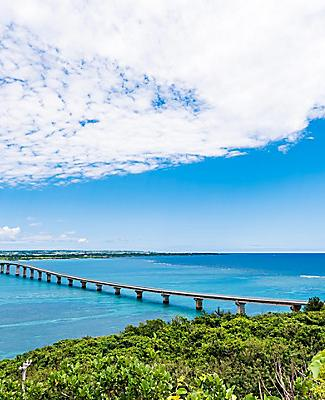Bridge between islands in Okinawa, Japan