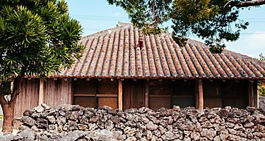A house of traditional construction in Okinawa, Japan