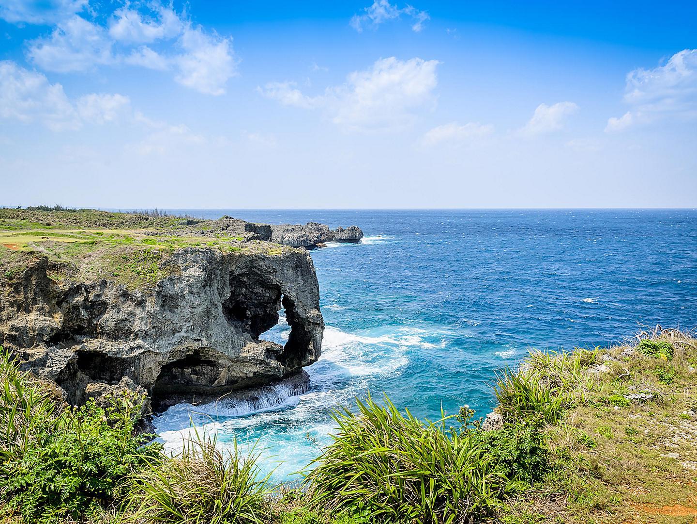 Okinawa (Nakagusuku), Japan Manzamo Cape