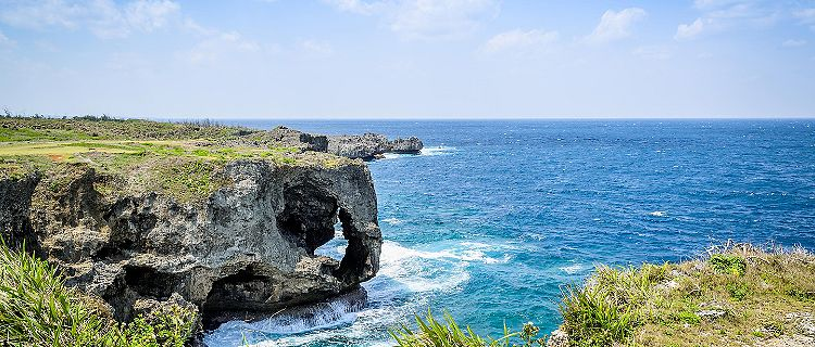 Manzamo cape in Okinawa, Japan