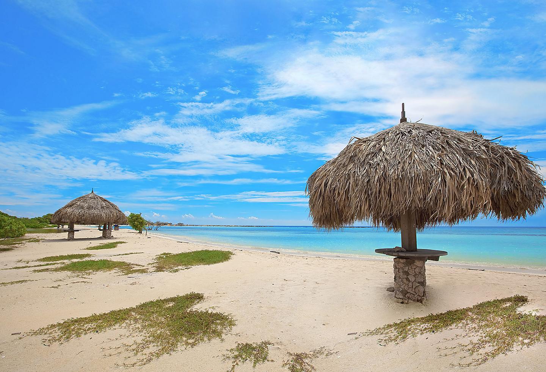 Aruba Baby Beach Tiki Sunny Day