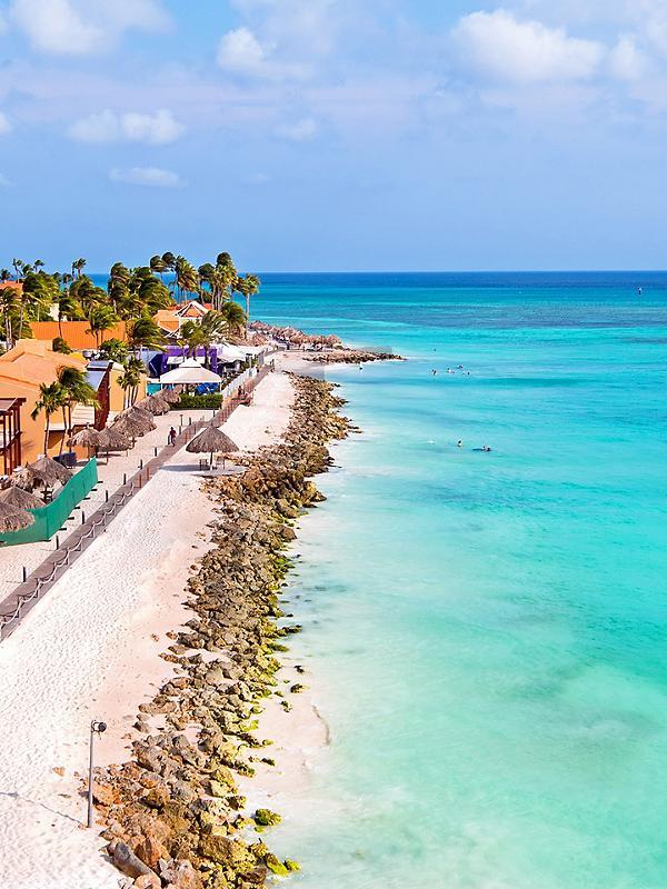 Aruba, Druif Beach Coastline
