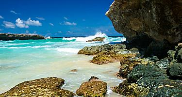 Rocky shore at Boca Prins Beach, Arikok National Park, Oranjestad, Aruba