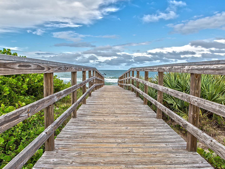 Wooden Walkway to the Beach, Orlando, Florida