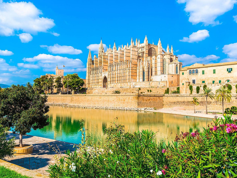 Palma De Mallorca, Spain, La Seu Cathedral
