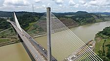 A bridge spanning over the Panama Canal
