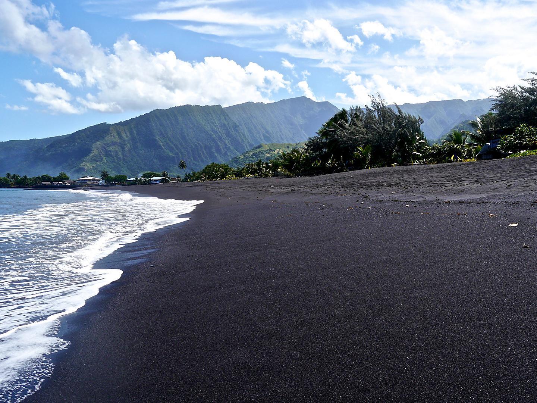 Papeete, Tahiti Black Sand beach