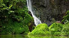 A waterfall in the Papenoo Valley near Papeete, Tahiti