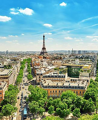 A panoramic view of Paris, France