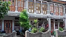 19th Century Houses in George Town in Penang, Malaysia