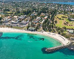 Beach aerial view of Perth, Australia