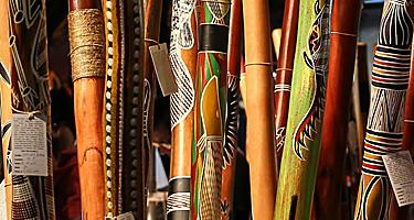 Find didgeridoos while shopping in Aboriginal museums in Australia