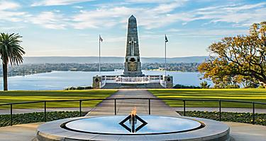 Famous monument in King Park in Perth, Australia