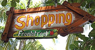 A sign at Front Street in St. Maarten