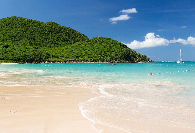 Saint Maarten Sandy Blue Beach Sailboat