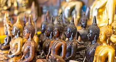 Traditional buddha souvenirs sold in Thailand