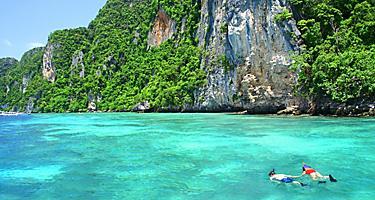 Snorkeling at Phi Phi Island, Phuket, Thailand