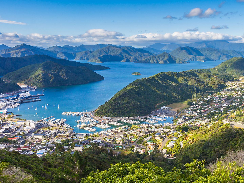 Picton, New Zealand View from Tirohanga Track