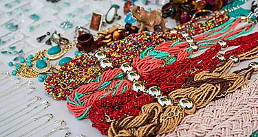 Necklaces and jewelry found while shopping in Ponce, Puerto Rico
