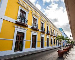A yellow building in Old San Juan