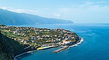 Aerial view of Ponta Delgada, Azores