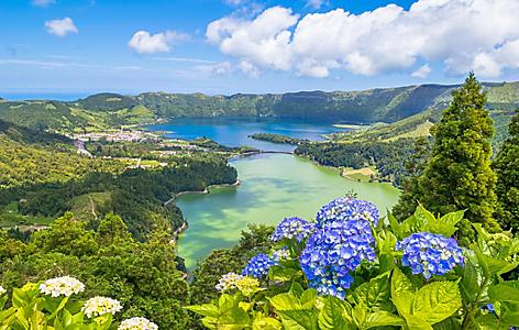 View of the Seven Cities lake in Ponta Delgada, Azores