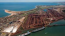 Aerial view of Port Hedland, Australia