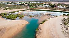 Pretty Pool, a popular swimming hole in Port Hedland, Australia