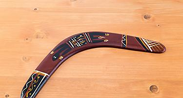 Traditional aborigine ornamental boomerang from Port Hedland, Australia
