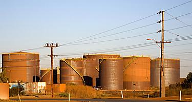 Bulk Fuel Tanks in Port Hedland, Australia