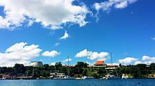Scene of Port Vila harbor, Vanuatu