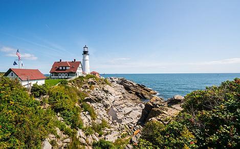 Maine Portland head Lighthouse Coast View