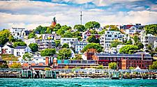 Coastal city view of Portland, Maine
