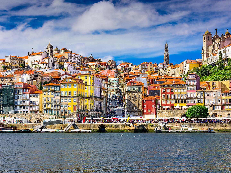 Porto (Leixoes), Portugal Old Town Skyline