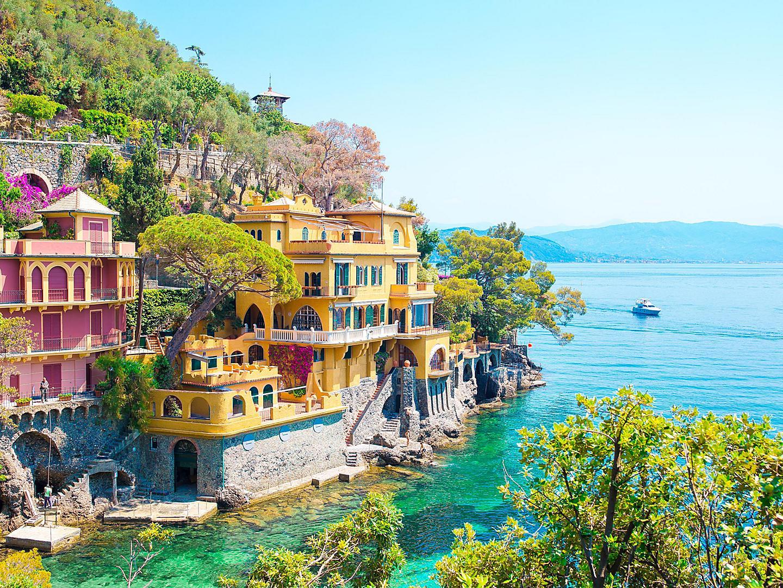 Portofino, Italy Sea Coast Houses