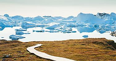 A coastal hiking trail in Greenland