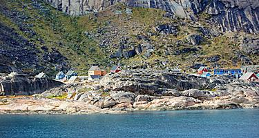 A small coastal settlement in Greenland